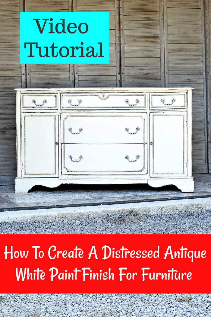 how to paint furniture antique white