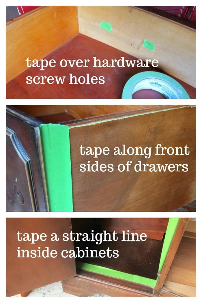 how to use painter's tape when painting furniture
