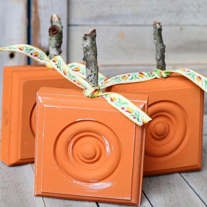 How To Make Wood Rosette Pumpkins