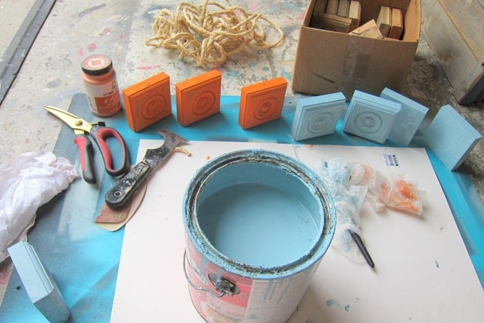 painting wood for diy Fall project