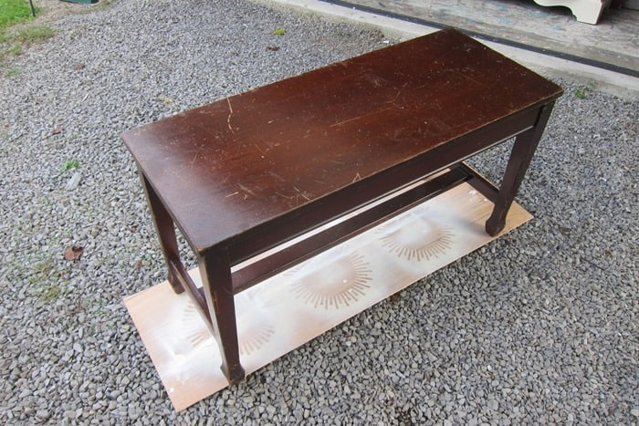 piano bench bought at auction