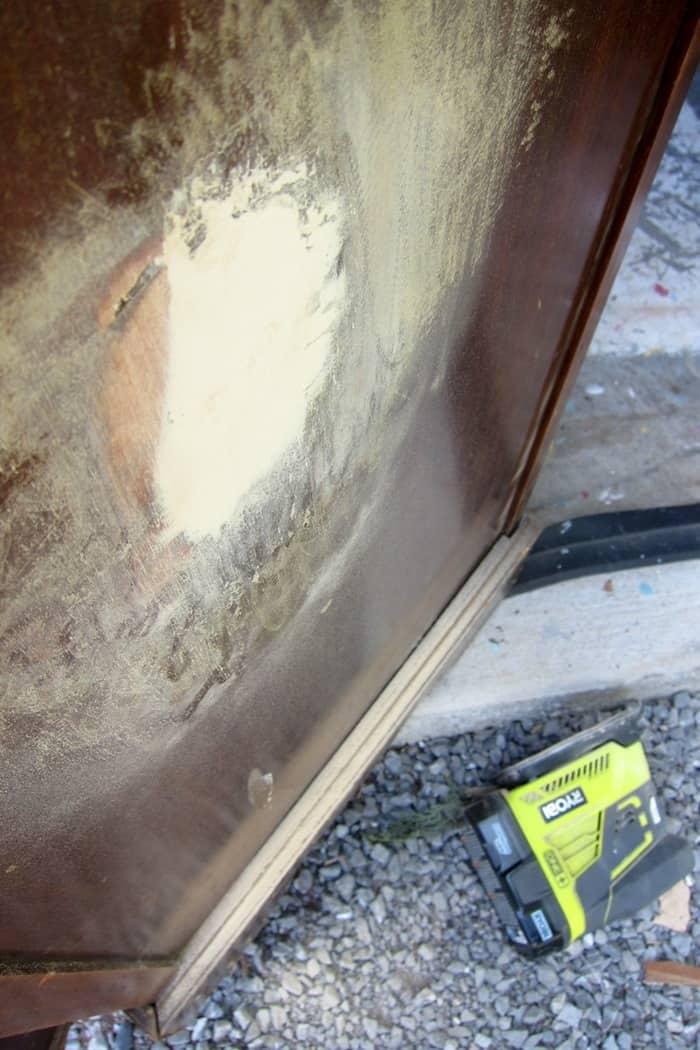 sand wood puttly filler smooth