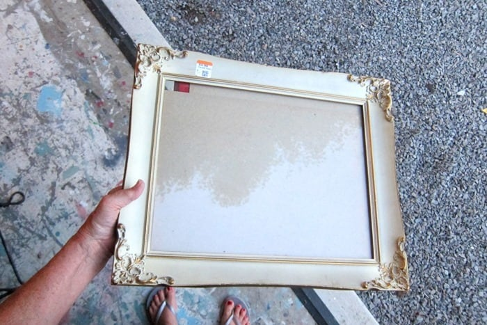 vintage white and gold decorated frame