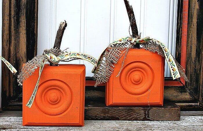 wood corbel pumpkin diy