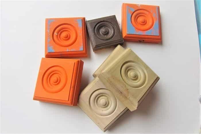 wood rosette blocks