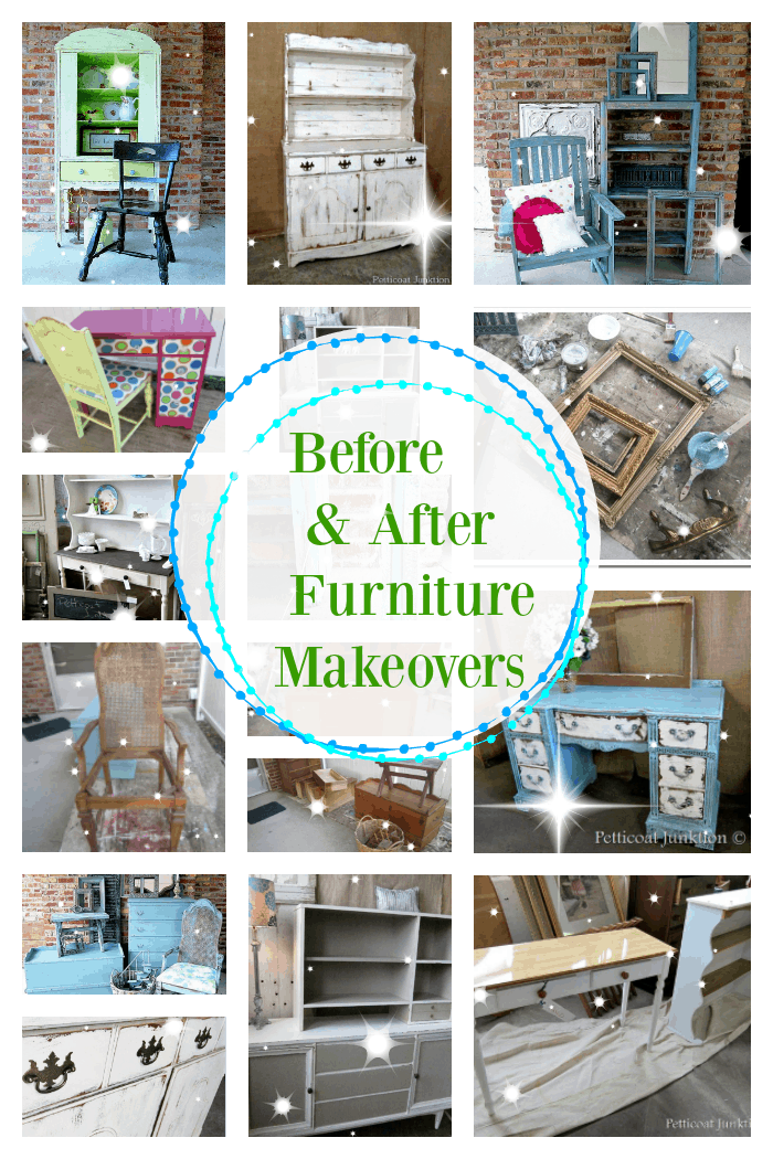 Before and After painted furniture makeovers