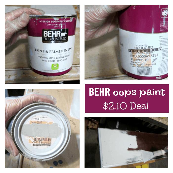 Behr oops paint