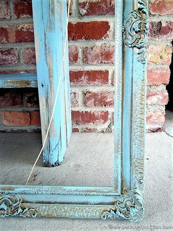 detailed turquoise picture frame