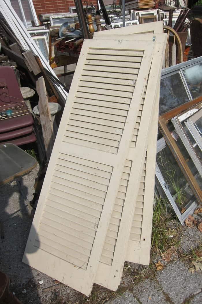 large wood shutters