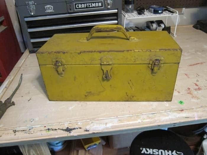 metal fishing tackle box