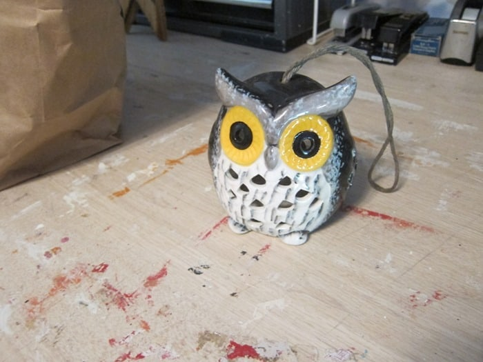 owl candle holder