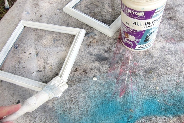 paint old picture frames with Beyond paint