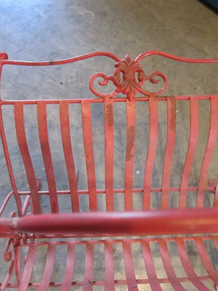 red iron magazine rack