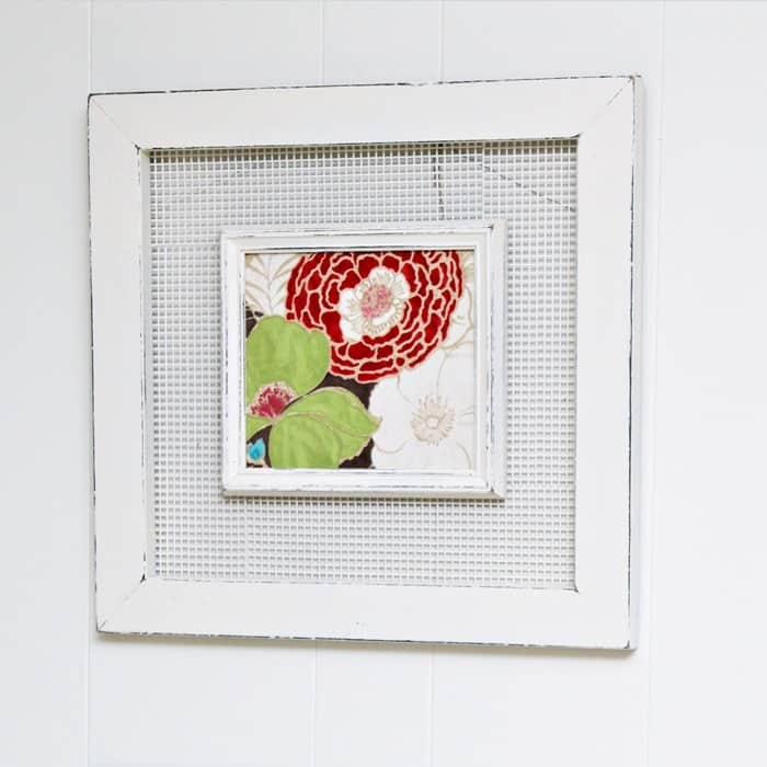 unique double picture frame with wire insert