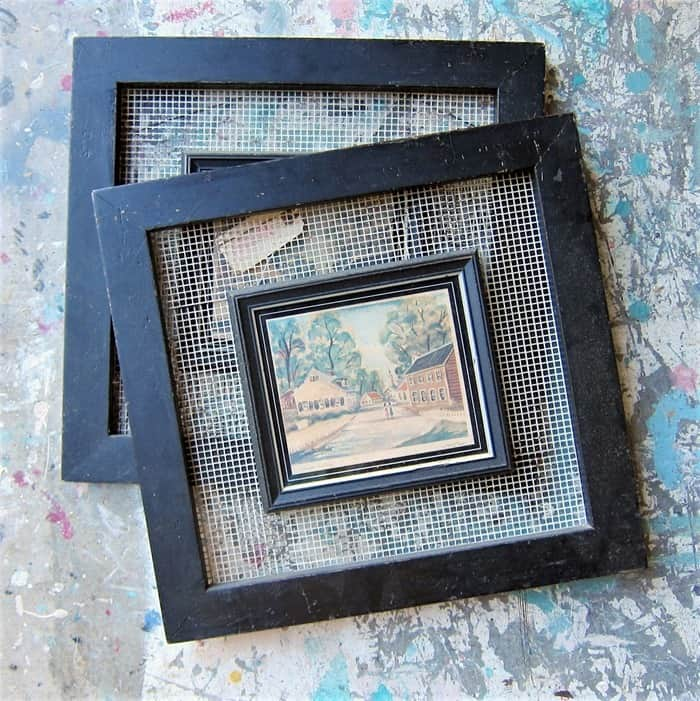 vintage frames and prints from the Nashville Flea Market
