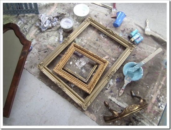 vintage picture frames to paint
