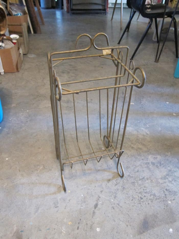 wrought iron table missing top