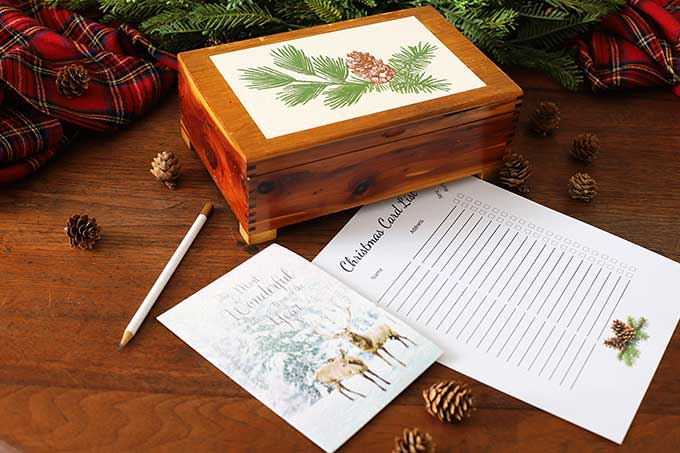 House of Hawthornes DIY Christmas Card Organizer