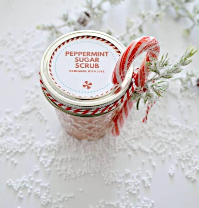 peppermint sugar scrub diy gift for your best friend