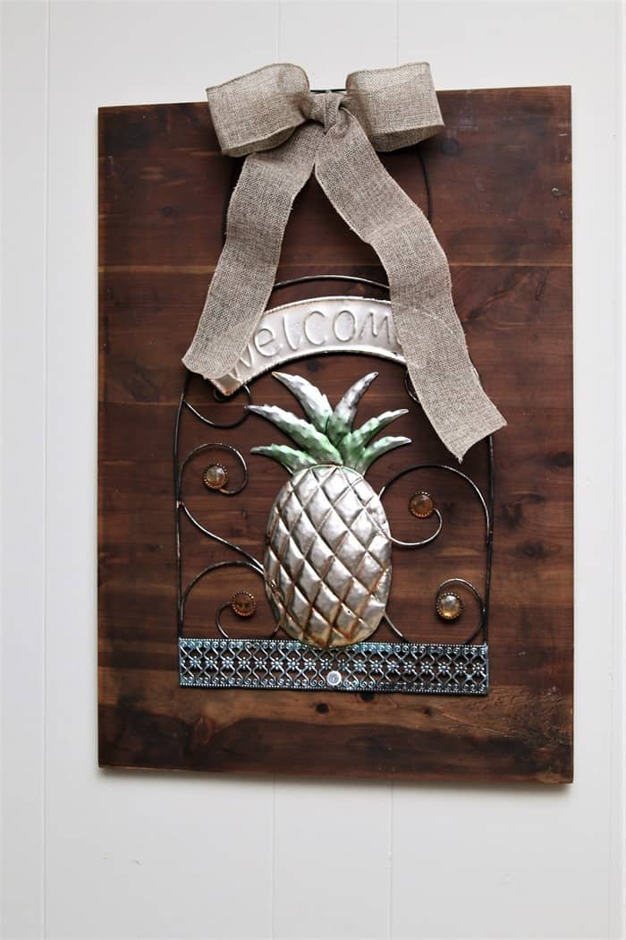 Pineapple Welcome Sign DIY Wall Decor (2)
