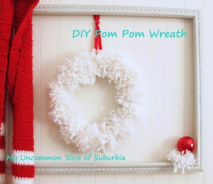 Pom Pom Christmas Wreath by My Uncommon Slice of Suburbia