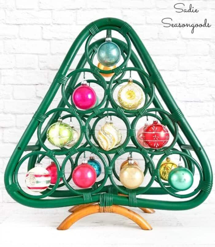 Sadie Seasongoods Recycled wine rack Boho Christmas tree