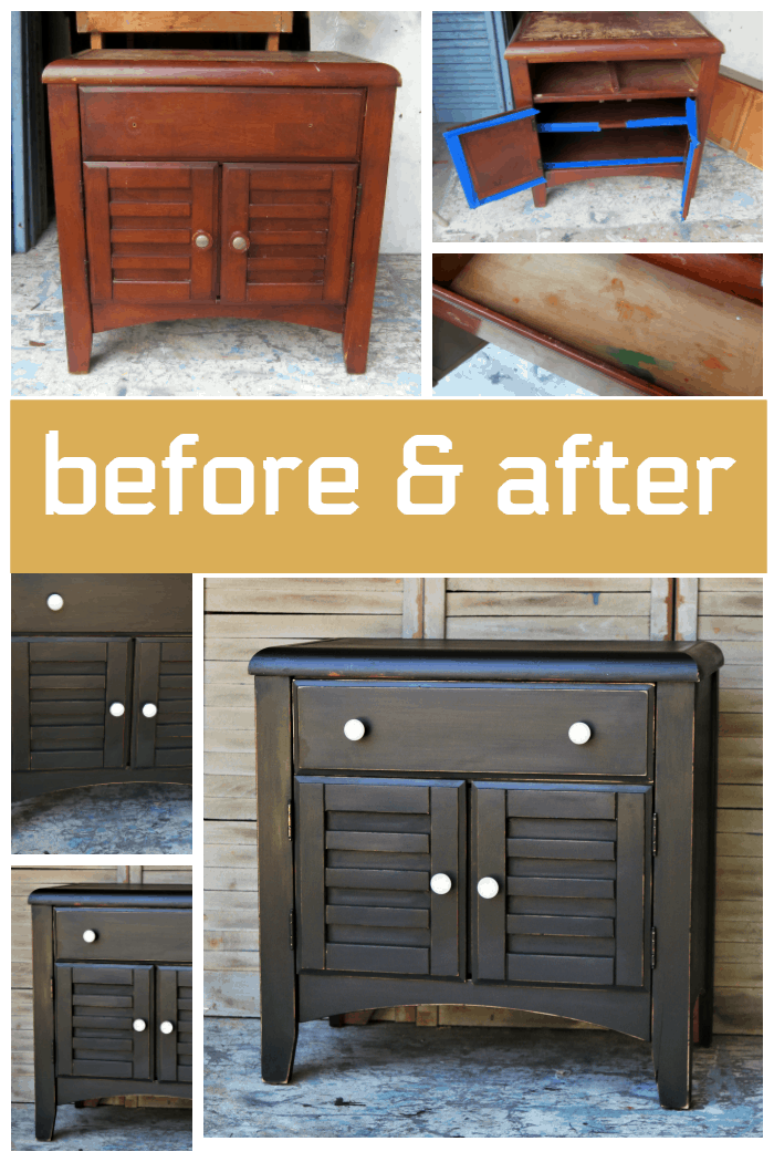 black furniture makeover before and after