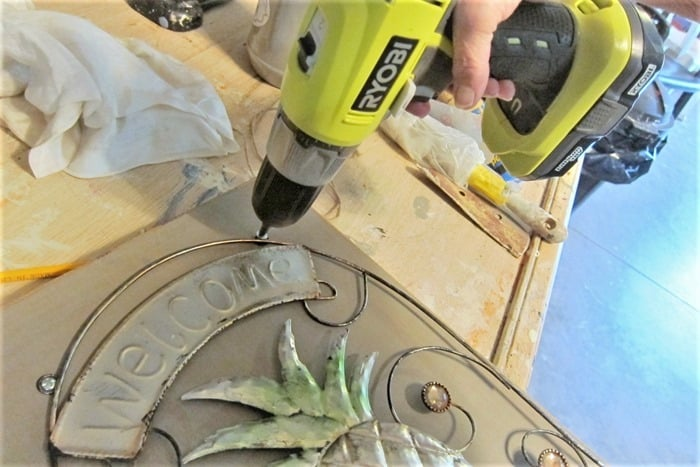 how to attach metal sign to wood