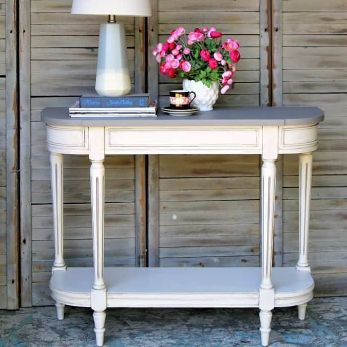 how to paint two color furniture