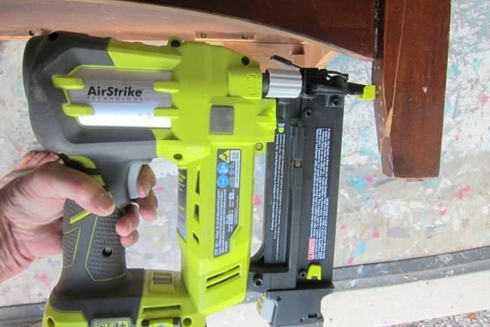 using a nail gun on furniture