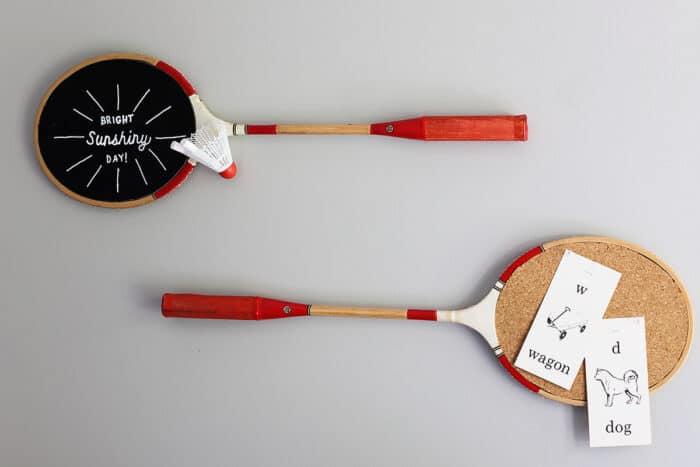 Badminton Racket Chalkboard