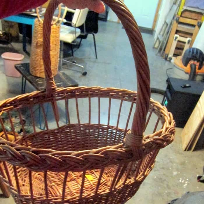 basket from Goodwill