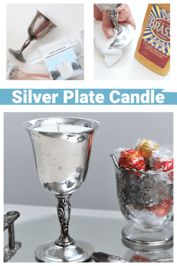 how to make a silver plate candle upcycle recycle project