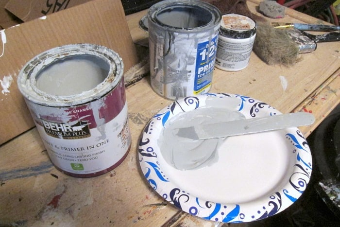 mixing paint to paint furniture pulls