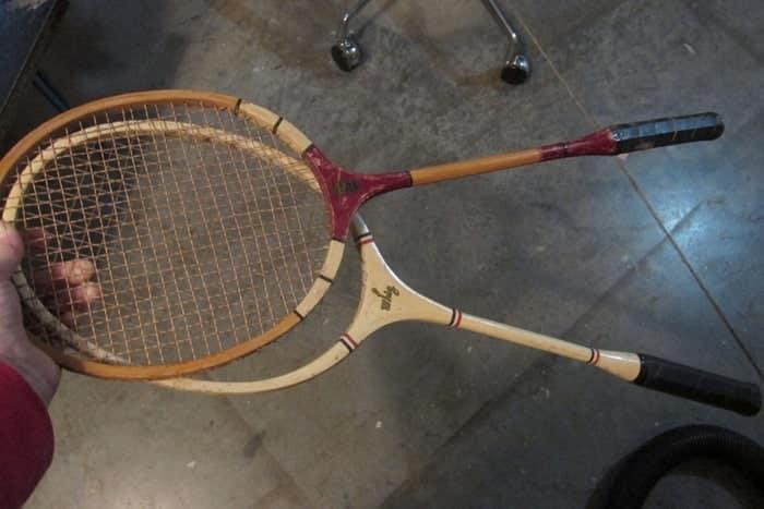 old badminton rackets