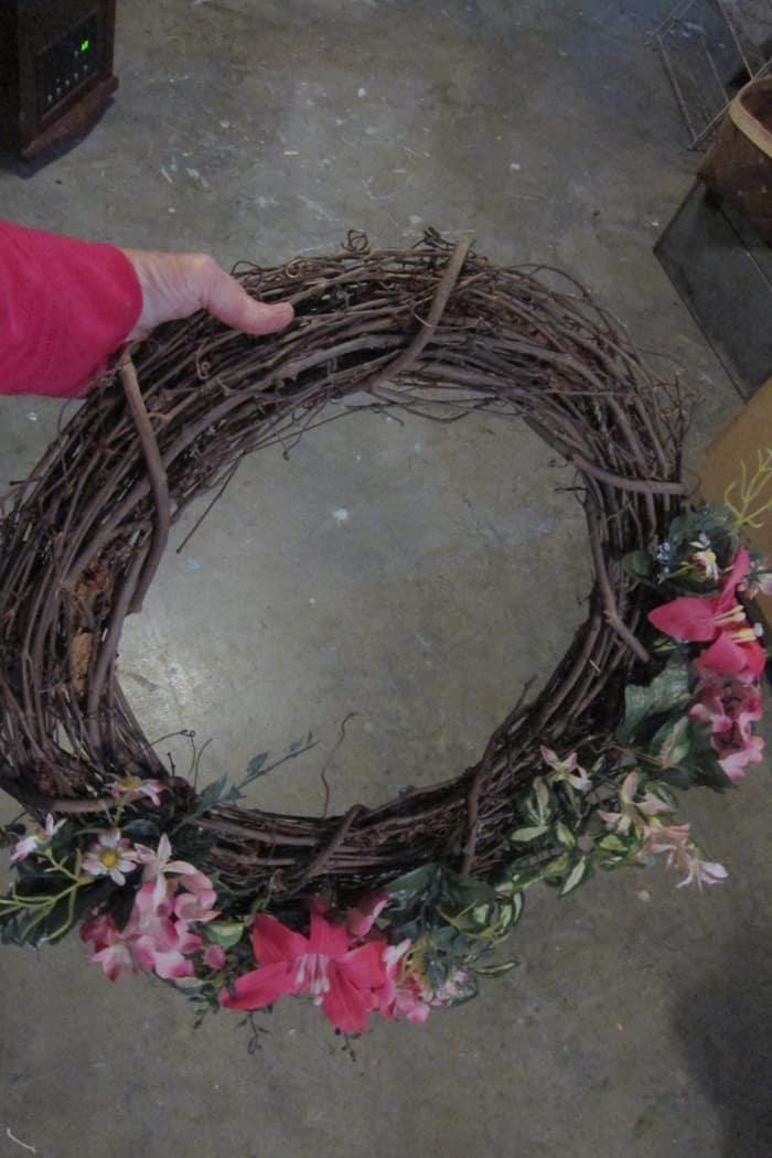 tacky grapevine wreath