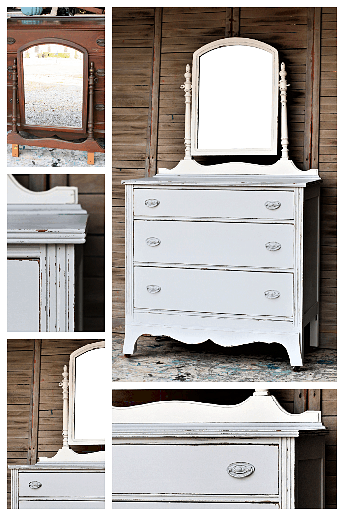 the easy way to distress latex painted furniture with sandpaper
