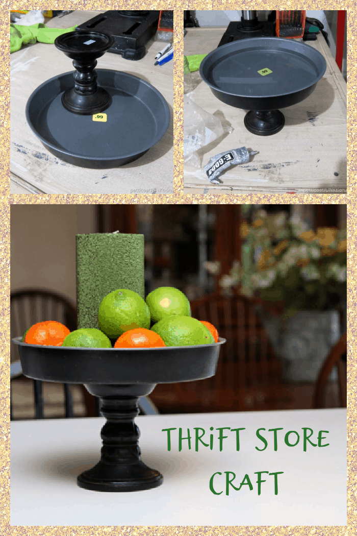 thrift store decor candle holder