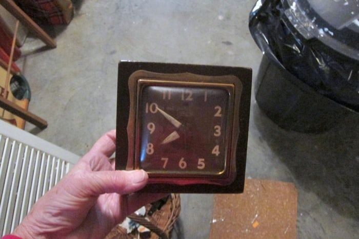 vintage clock from Goodwill