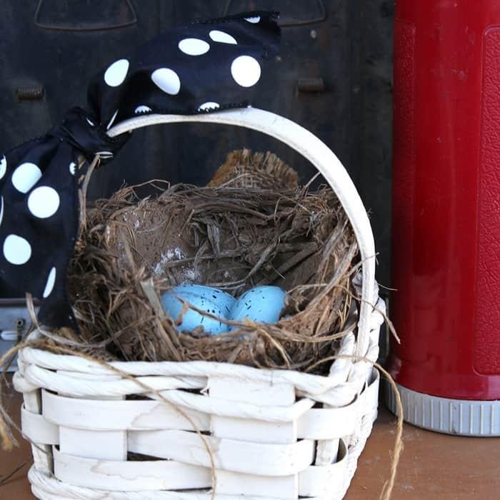 Bird Nest In A Basket Idea