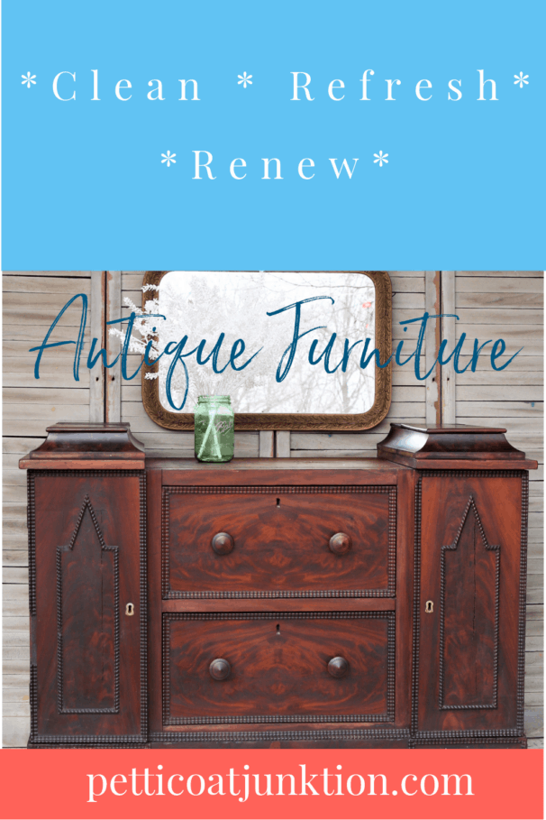 how to clean antique furniture