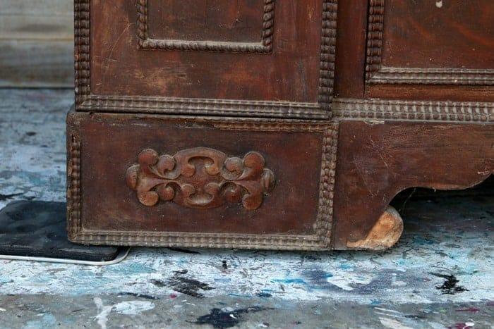 missing veneer on wood furniture