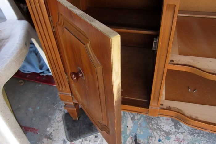 sanding cabinet doors to keep from rubbing