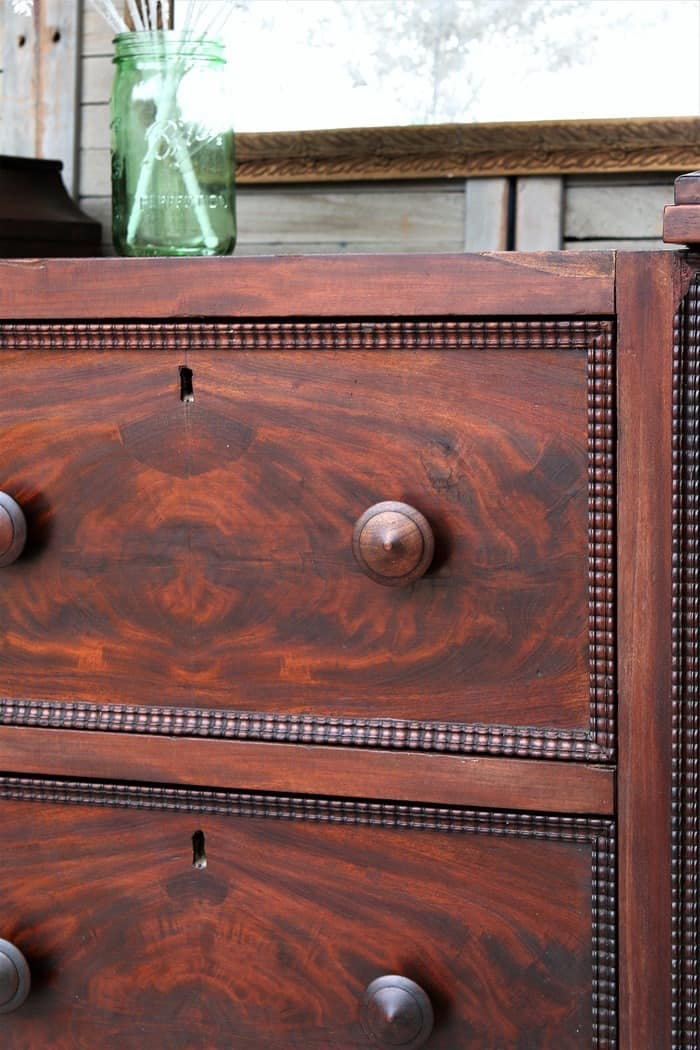 waxed and refreshed walnut Empire style antqiue furniture