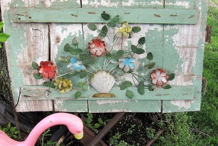 Create Unique Garden Decor Using Vintage Metal Flowers