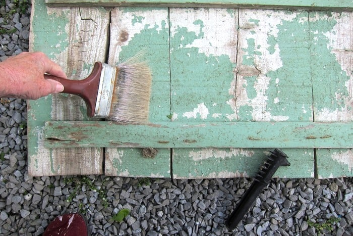 cleaning chippy paint from antique wood