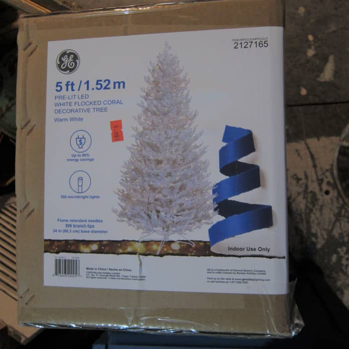 Christmas tree new in box from Goodwill