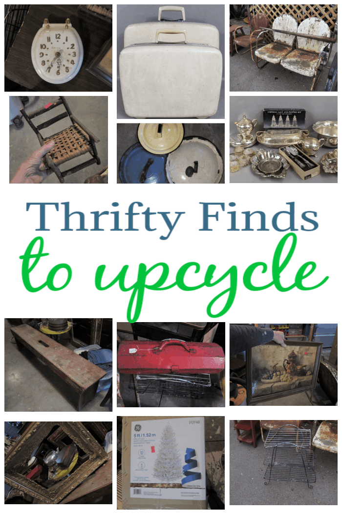 thrift store finds to upcycle and recycle