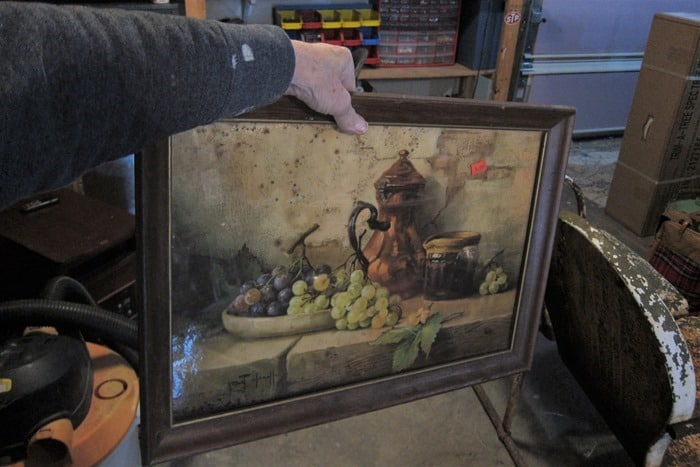 vintage fruit picture from the thrift store