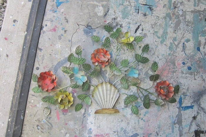 vintage metal floral wall decor